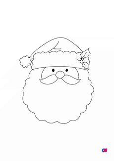 Coloriage Père Noël 6