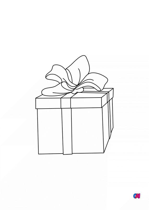 Coloriage de Noël - Cadeau 2
