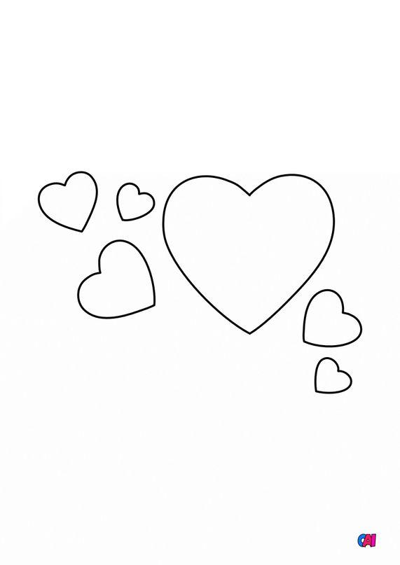 Mes premiers coloriages - Plein de coeurs