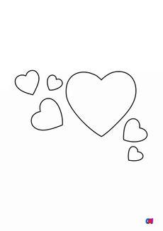 Coloriage Plein de coeurs