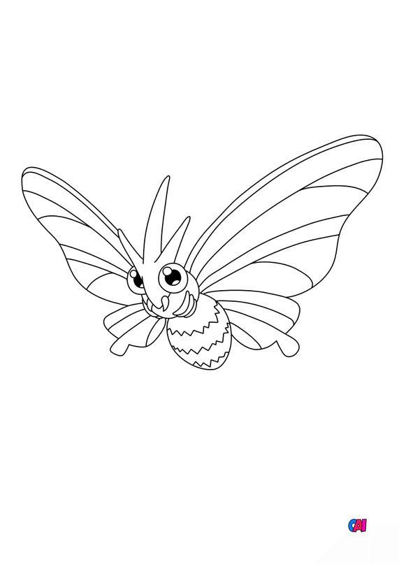 Coloriage Pokémon - 49 - Aéromite