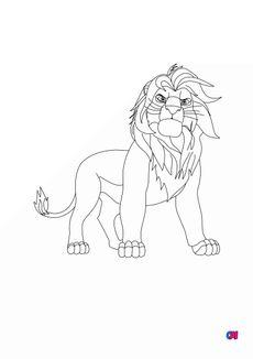 Coloriage le roi Mufasa