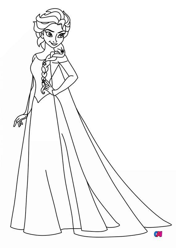 Coloriage la reine des neiges - Elsa d'Arendelle