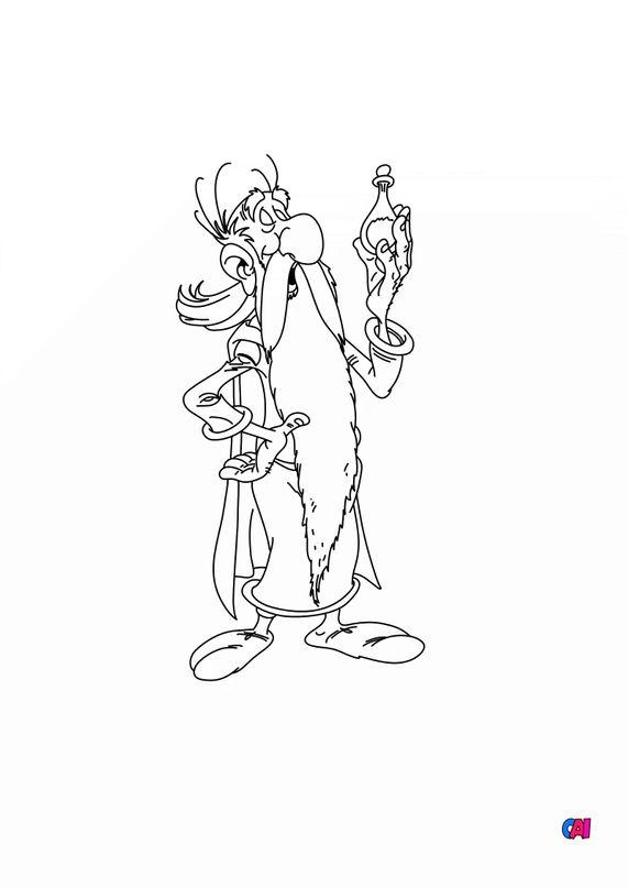 Coloriage Astrérix - Panoramix et la potion magique