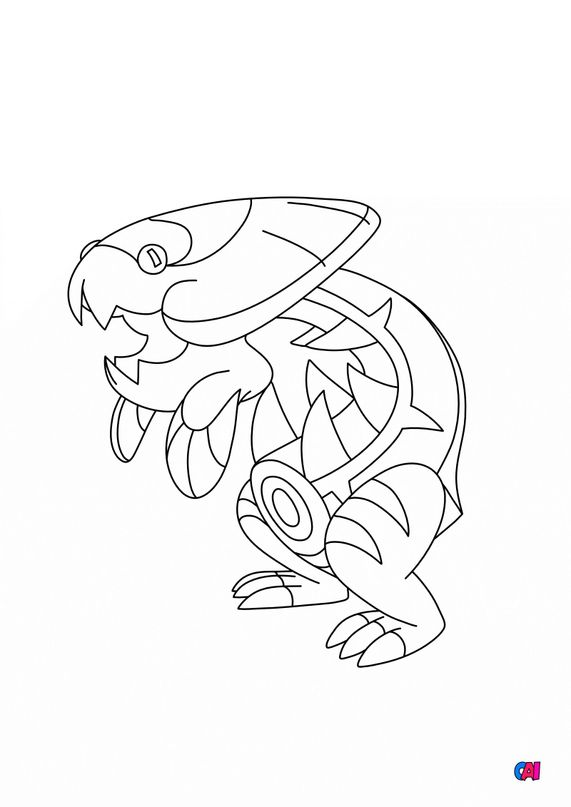 Coloriage Pokémon - 882 - Hydragon