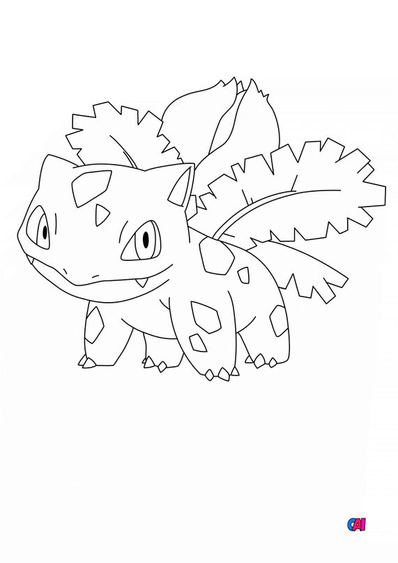 Coloriage Pokémon - 2 - Herbizarre