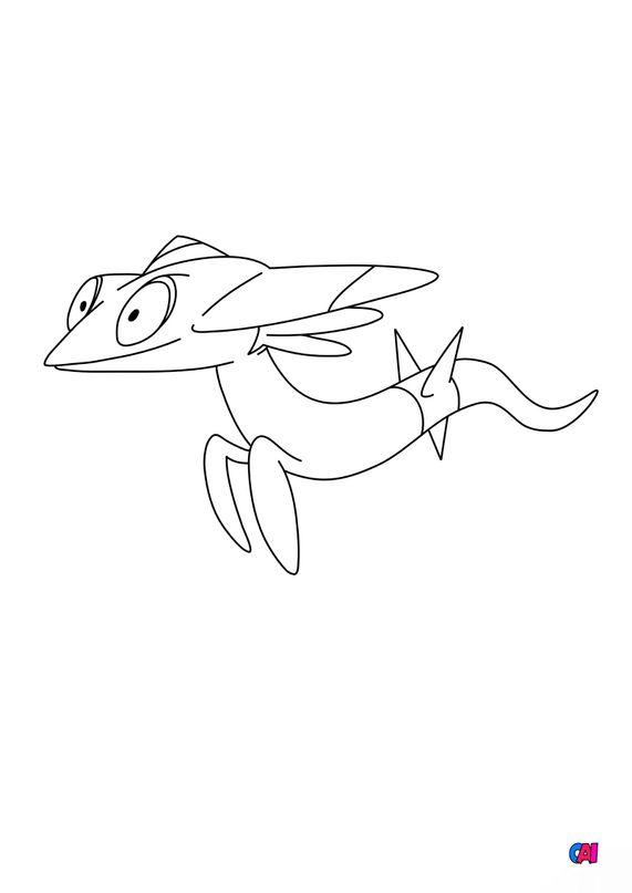 Coloriage Pokémon - 885 - Fantyrm