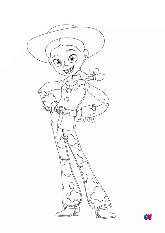 Coloriage Toy Story 4 - Jessie 2