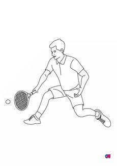 Coloriage Tennisman