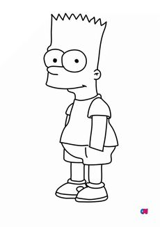 Coloriage Bart Simpson
