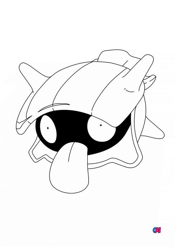 Coloriage Pokémon - 90 - Kokiyas
