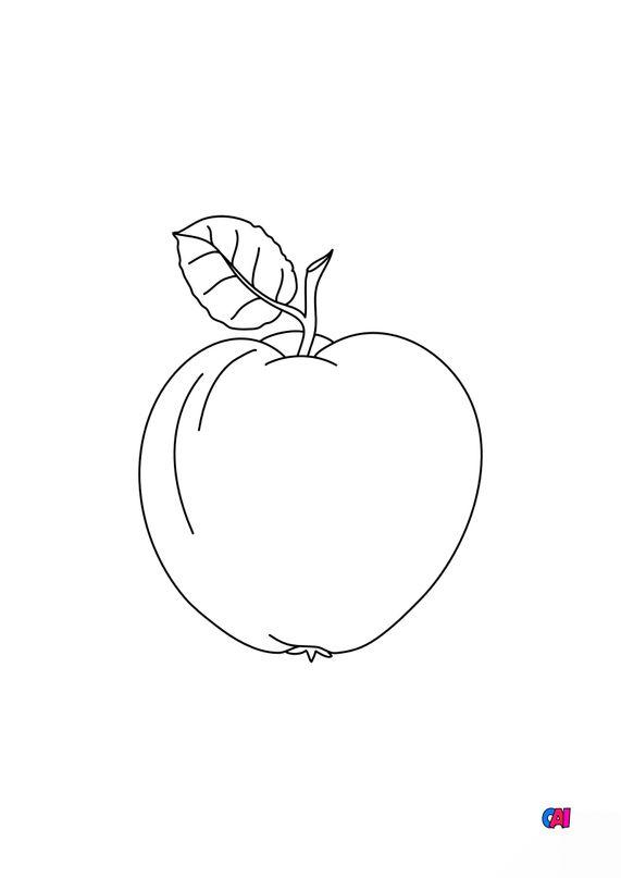 Mes premiers coloriages - Une pomme 2
