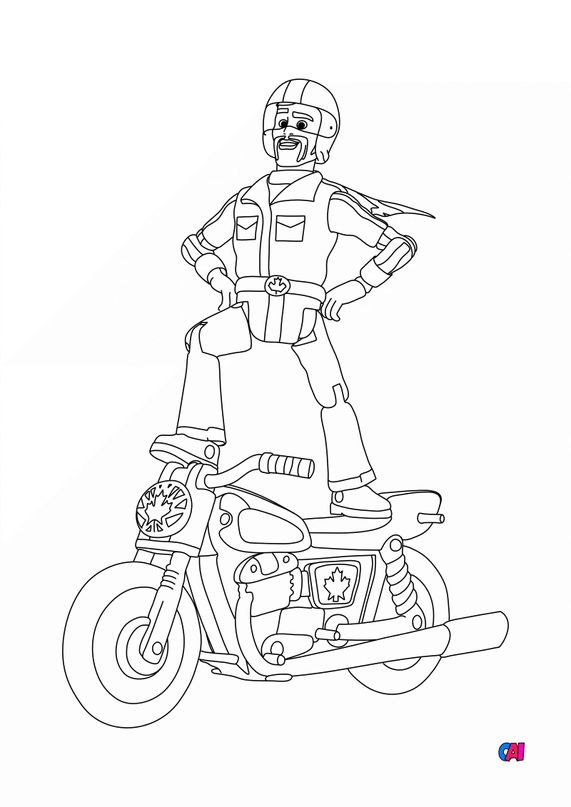 Coloriage Toy Story 4 - Duke Caboom