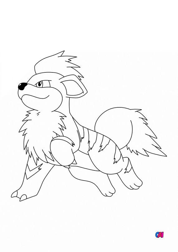 Coloriage Pokémon - 58 - Caninos