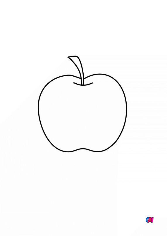 Mes premiers coloriages - Une pomme