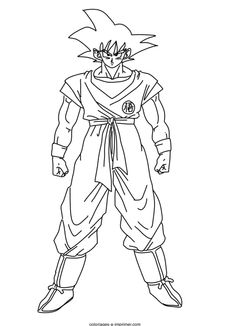 coloriage Dragon ball Z