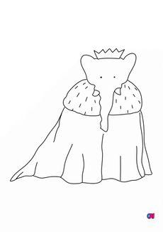 Coloriage Le couronnement de Babar