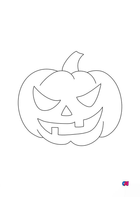 Coloriages Halloween - Citrouille 3