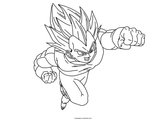 Coloriage dragon ball z - Vegeta