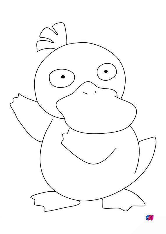 Coloriage Pokémon - Psykokwak