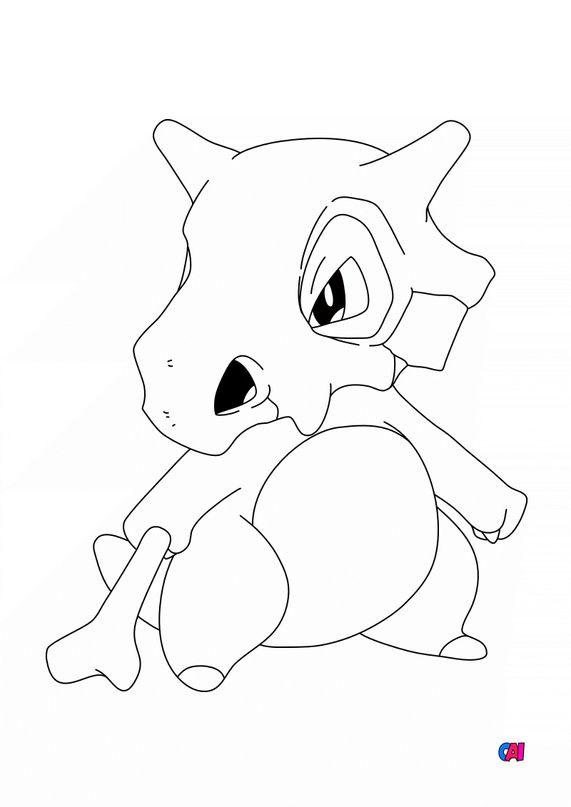 Coloriage Pokémon - 104 - Osselait