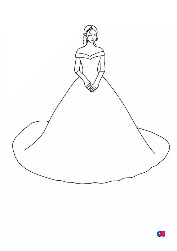 Coloriage de Princesses - Princesse au bal