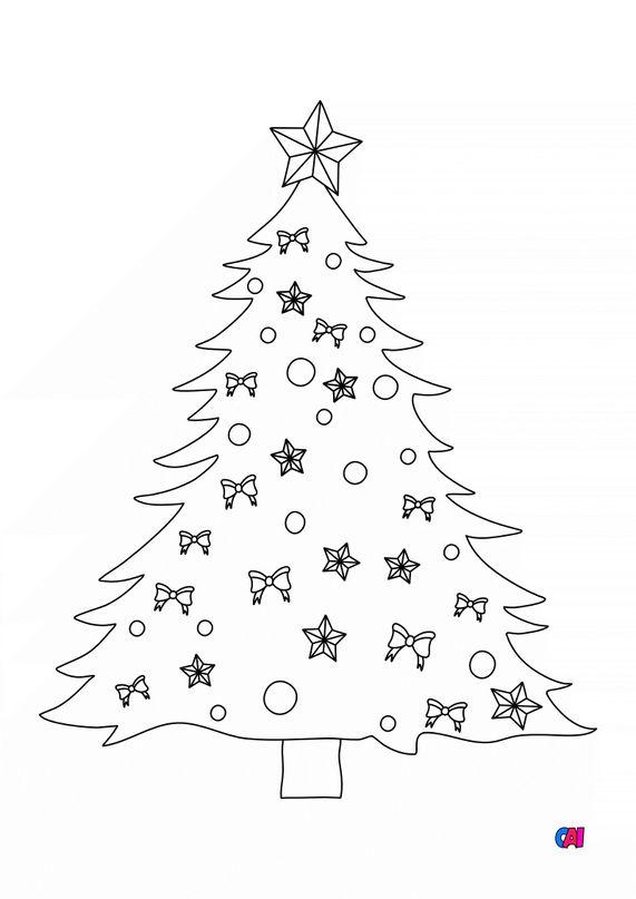 Coloriage de Noël - Sapin de Noël 1