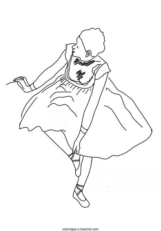 Coloriages de danseuses - danseuse classique Edgar Degas