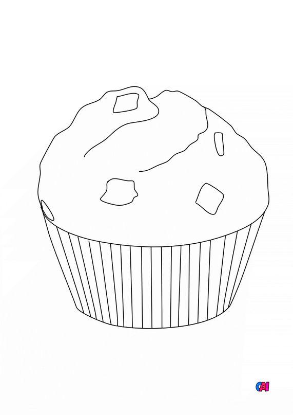 Mes premiers coloriages - Un muffin