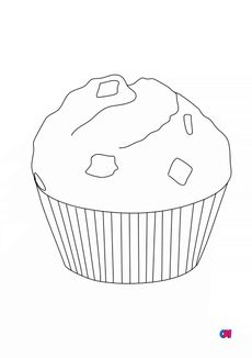 Coloriage Un muffin