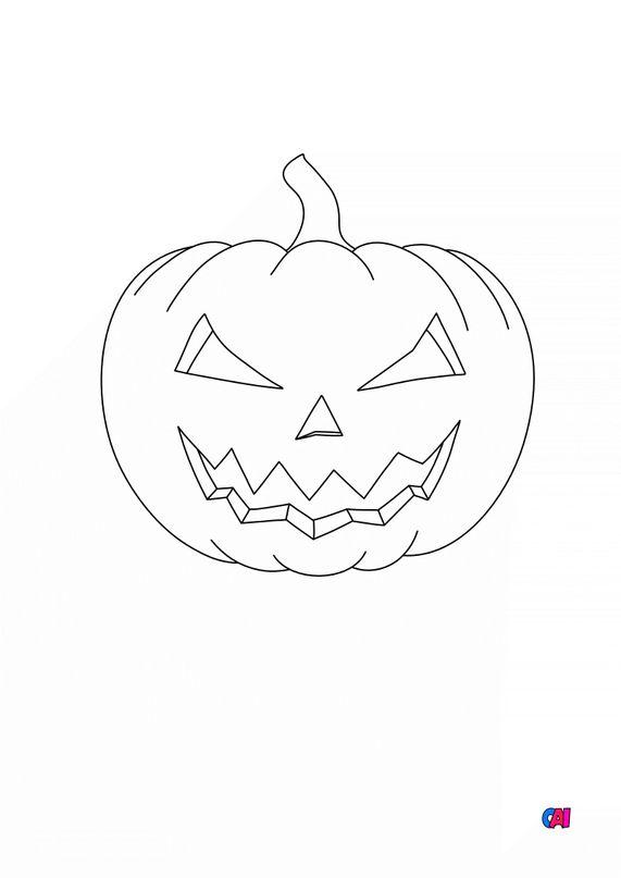 Coloriages Halloween - Citrouille 4