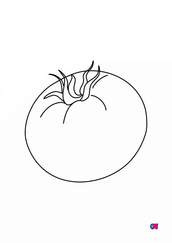 Mes premiers coloriages - Une tomate