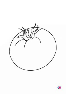 Coloriage Une tomate