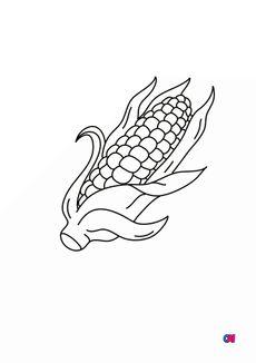 Coloriage Un épis de maïs