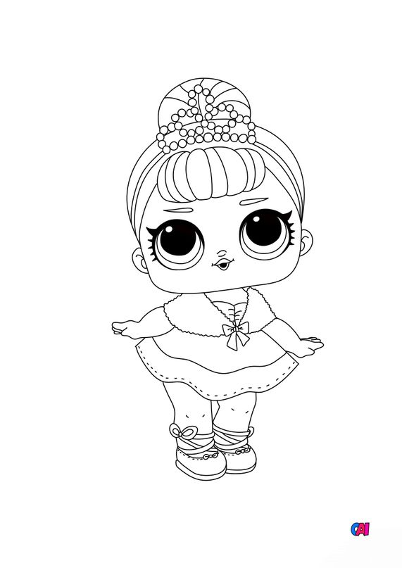 Coloriage Poupée Lol - Cristal Queen