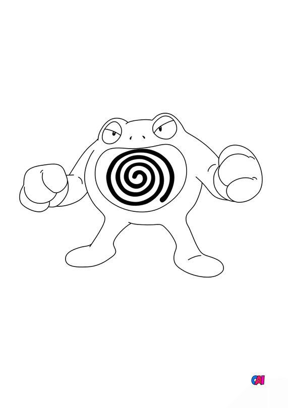 Coloriage Pokémon - 62 - Tartard