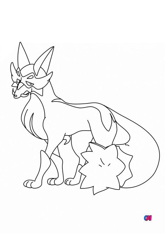 Coloriage Pokémon - 828 - Roublenard