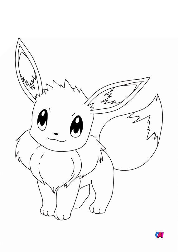 Coloriage Pokémon - 133 - Évoli