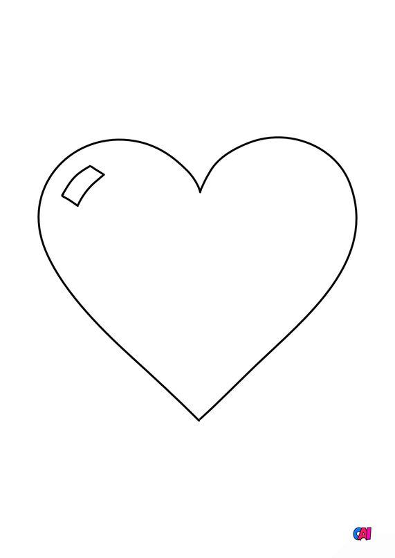 Mes premiers coloriages - Coeur 2