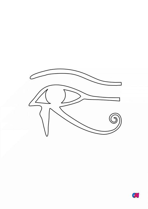 Coloriage Egypte ancienne - Oeil d'Horus