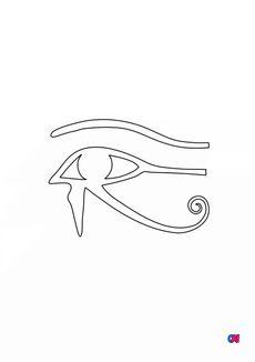 Coloriage Oeil d'Horus