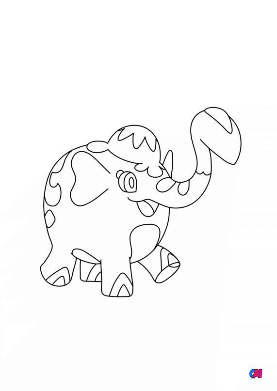 Coloriage Pokémon - 878 - Charibari