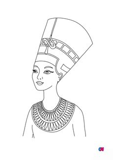 Coloriage Nefertiti