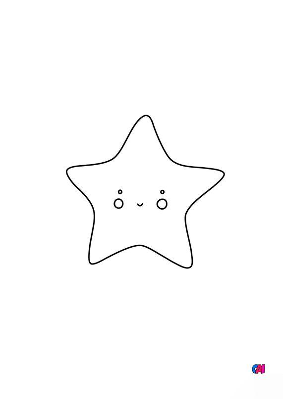 Mes premiers coloriages - Une étoile souriante