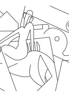 Coloriage L'ecuyere - Magritte