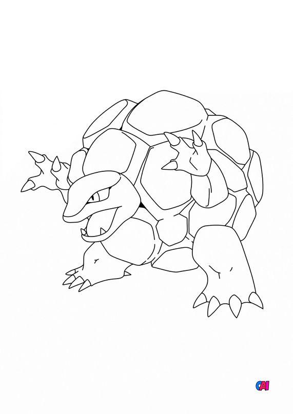 Coloriage Pokémon - 76 - Grolem
