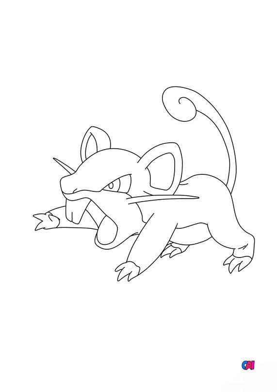 Coloriage Pokémon - 19 - Rattata
