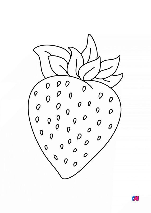 Mes premiers coloriages - Une fraise