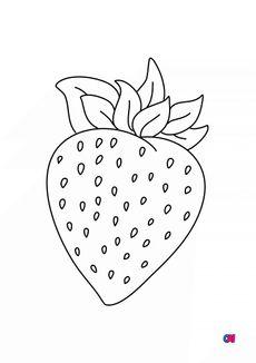 Coloriage Une fraise