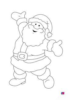 Coloriage Père Noël 2